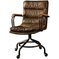 Acme Furniture 92416 Hedia Top Grain Leather Office Chair in Vintage Whiskey