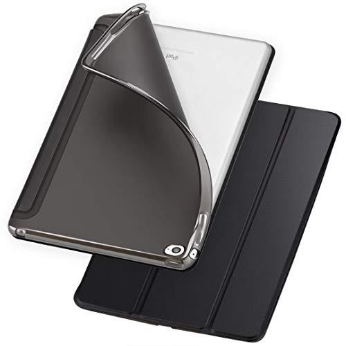 Soke iPad Mini 4 Case, Ultra Slim Lightweight Smart Case [Trifold Stand] [Auto Wake/Sleep] with Translucent Clear Soft TPU Back Cover for Apple iPad Mini 4, Black