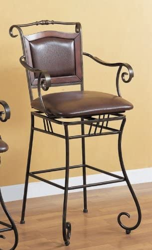 29 in. Barstool w Upholstered Seat PNo: 100159