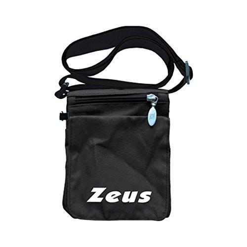 Zeus Herren Sporttasche Schultertasche Handtasche Fußball Umhängetasche BORSA CICCIO 18X7X14 cm (SCHWARZ) SCHWARZ