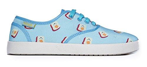 Sneaker Carina E Carina - Scarpa Stringata Casual - Comoda Comoda - Kodi Blue Toast *