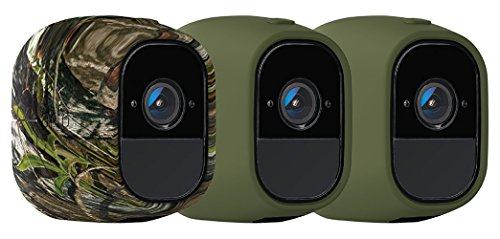 Arlo Accessory - Skins | Set of 3 - Green, Green, Camouflage |Compatible with Arlo Pro only| (VMA4200)