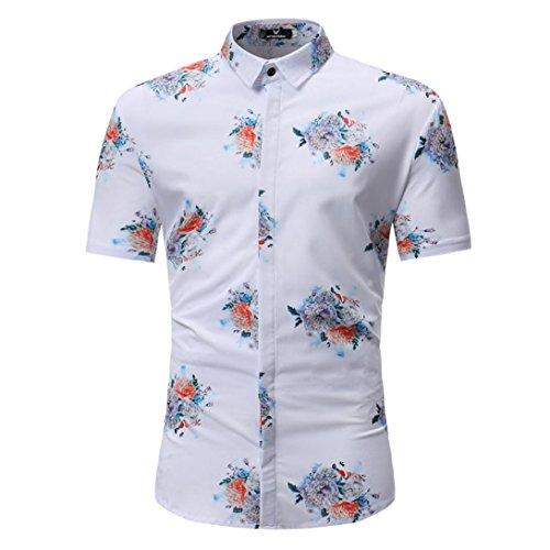 rinted Shirts, Fashion Casual Short Sleeve Slim Blouse Tops ()