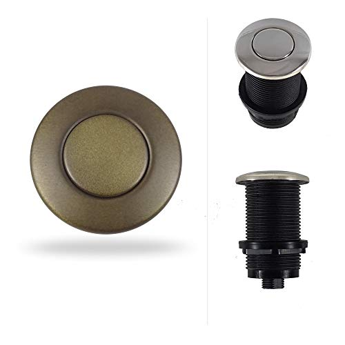 Round Garbage Disposal Air Switch Button (Standard 2-Inch Length) ()