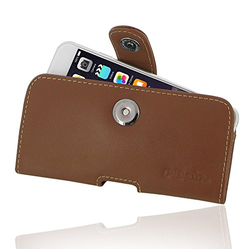 "Apple iPhone 6 (4.7"") Leather Case / Cover Protective Carrying Phone Case / Cover (Handmade Genuine Leather) - Horizontal Pouch Case (Brown) by Pdair"