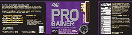 Optimum Nutrition Pro Gainer Weight Gainer Protein Powder,Double Rich Chocolate, 5.09 Pounds (Packaging May Vary)