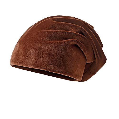 Clearance DEATU Solid Color Hat Unisex Warm Knit Hat Thick Velvet Wrap Cap Men Women Hats Special Promotion(Coffee,One Size) (Driver Knit Cap)