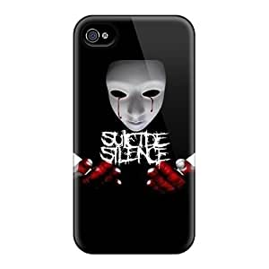 Apple Iphone 4/4s Snl22506AElU Support Personal Customs Colorful Suicide Silence Series Anti-Scratch Cell-phone Hard Covers -LeoSwiech
