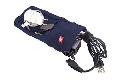 Harissons Bags Mobile, Laptop, Accessories Charger Pouch (Navy Blue)