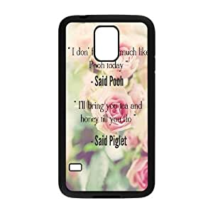 WEUKK Winnie the Pooh quote Samsung Galaxy S5 I9600 cases, diy case for Samsung Galaxy S5 I9600 Winnie the Pooh quote, diy Winnie the Pooh quote phone case