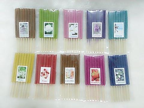 Set 6 Mix Aroma 10 Scents 80 Sticks Mini Incense Sticks Thai Spa Aromatherapy Home of Herb & Fragrance, Length 3 - Incense Set