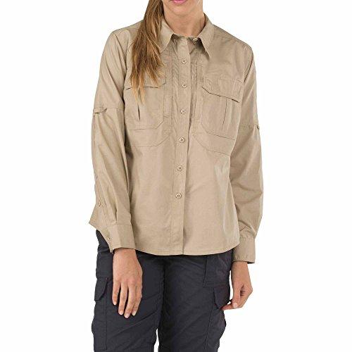 5.11 62070-162-XS Camisa Taclite de manga larga para mujer, TDU Khaki, X-Small