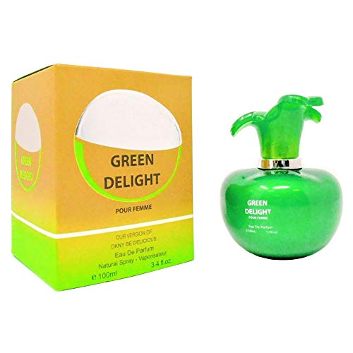 (APPLE DELIGHT, Our Impression of BE DELICIOUS DKNY, Eau De Parfum Spray for Women, Perfect Gift, Delightful Perfume, Daytime and Casual Use, for all Skin Types, 3.4 Fl.Oz)