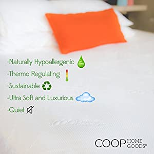 Lulltra Waterproof Mattress Pad Protector Cover by Coop Home Goods - Cooling Waterproof Hypoallergenic Topper - King - White-15 year warranty