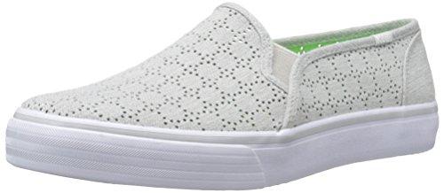 Keds Femmes Double Decker Perf Slip-on Sneaker Gris