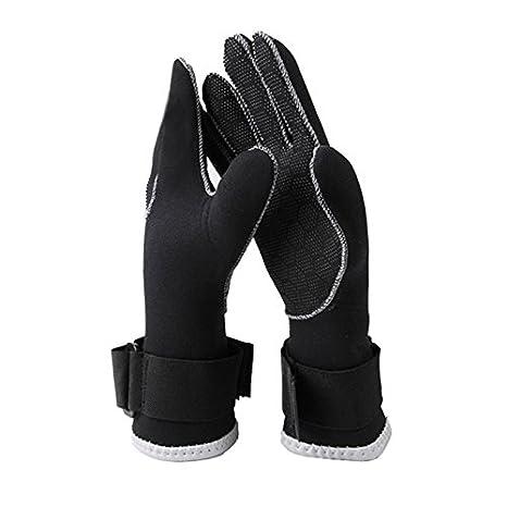 0bd86b138de34 3 mm de neopreno guantes de buceo natación y alta elástica Nycon-jersey  antideslizante guantes para buceo surf Snorkel natación deportes acuáticos  - L ...