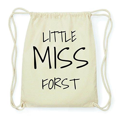 JOllify FORST Hipster Turnbeutel Tasche Rucksack aus Baumwolle - Farbe: natur Design: Little Miss eHYtD