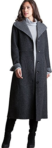 Overland Sheepskin Co Frances Reversible Alpaca Wool-Blend Coat (Coat Reversible Overland)