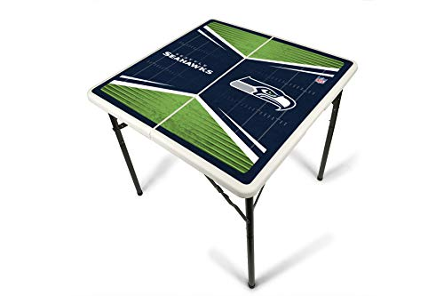 Nfl Tailgate Table - PROLINE NFL Seattle Seahawks 2.5' x 2.5' Folding Plastic Tailgate Table