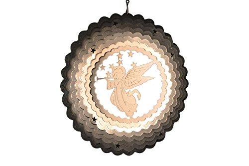 Spin Art Spinner Christmas Angel, Silver, 31x 34cm 120AN308
