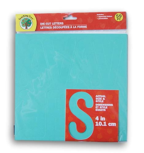 Teaching Tree Die Cut Letters and Punctuation - Teal Blue - 59 Piece