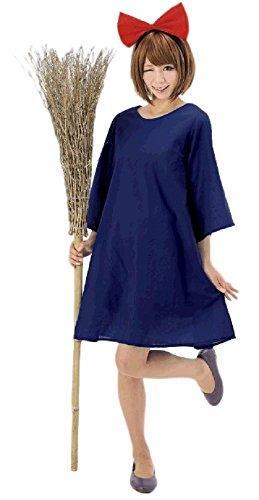 Sagittarius.kyt Kiki delivery Service Cosplay Costume With Hairband Halloween Christmas (Onesize)