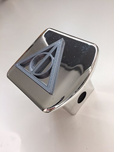 Deathly Triangle in 3D - 2 inch Trailer Hitch Cover Chrome with GREY - Harry Potter 3d Trailer