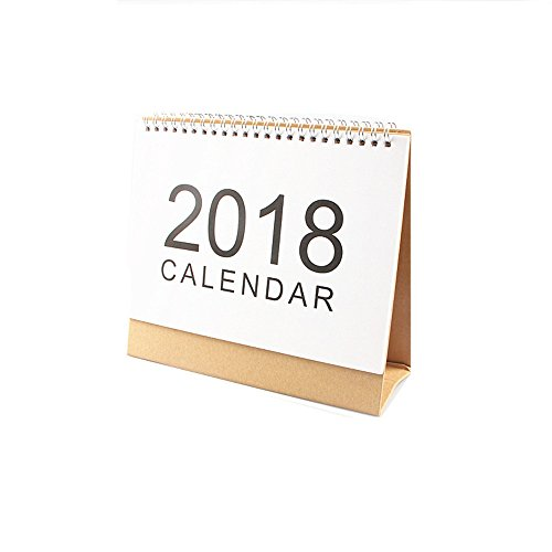 METAN New Desk Stand Up Calendar 2018 Monthly Planner, Wirebound, 4 Different Size (Small Size)