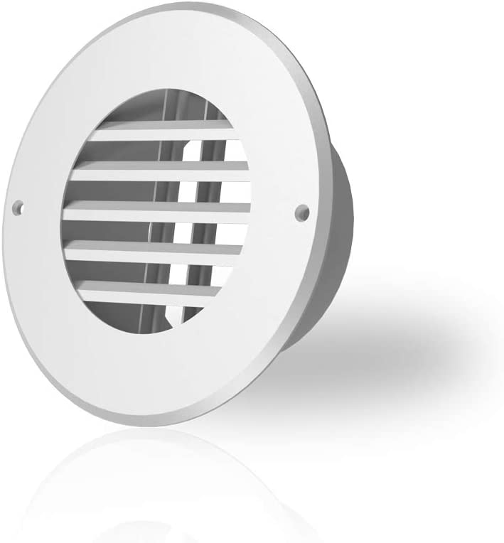 AC Infinity Wall-Mount Duct Grille Vent for 4-Inch Ducting, White Metal, Heating Cooling Ventilation and Exhaust