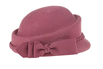 Women's Vintage Hats | Old Fashioned Hats | Retro Hats Dantiya Womens Wool Vintage Fedoras Bowknot Stewardess Beret Cap Hat $20.99 AT vintagedancer.com