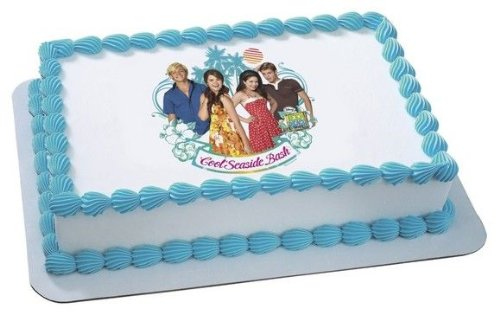 1/4 Sheet ~ Teen Beach Movie Seaside Bash Birthday ~ Edible Image Cake/Cupcake Topper!!! by Quantumchaos Media