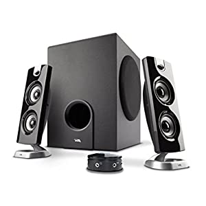 Cyber Acoustics 2.1 Computer Speaker with Subwoofer - Best for Music, Movies, Multimedia PC and Gaming Systems (CA-3602 FFP)