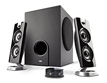 speakers subwoofer. cyber acoustics 2.1 computer speaker with subwoofer - best for music, movies, multimedia pc speakers u