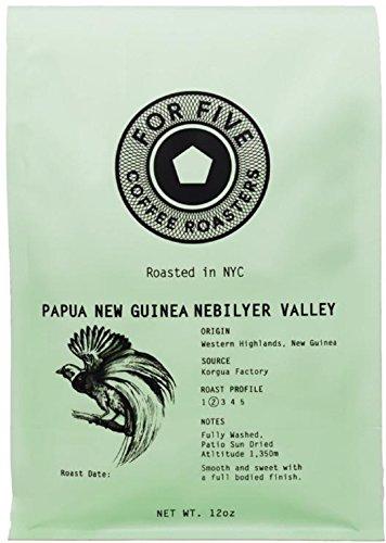 For Five Coffee Roasters Papua New Guinea Light Roast (Origin: Western Highlands, New Guinea), Whole Bean 12 oz
