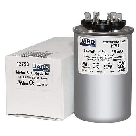 440 VAC 2-1//2 Inch Round Heavy Duty OneTrip Parts USA Run Capacitor 80+5 UF 80//5 MFD 370 VAC