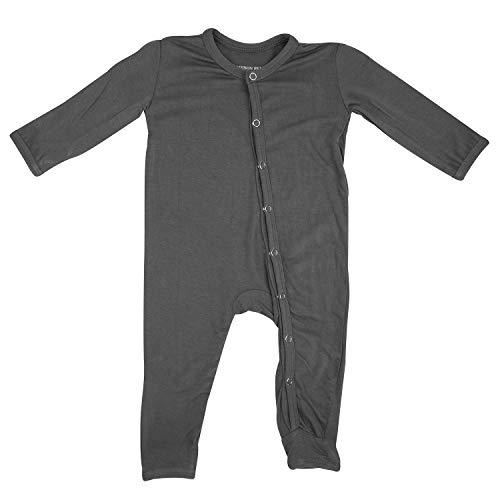 ADDISON BELLE Premium Knit One Piece Baby Romper Ultra Soft & Breathable - 0-3 Month Size (Dark Grey)