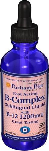 2 Pack of Pride vitamine liquide sublinguale B-Complex de Puritan avec de la vitamine B-12
