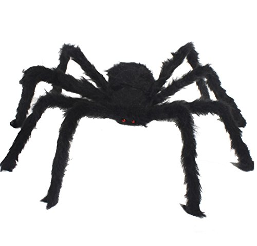 [Spider Decorations, Halloween Spiders, Annymall Outdoor Halloween Spider, Hairy Poseable Spider, Scary Spider for Halloween Decorations (78 inch, Black)] (Elegant Coffin Witch Costumes)