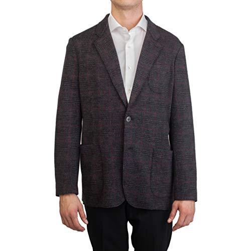 Bugatchi Men's Two Button Virgin Wool Blazer Jacket Grey