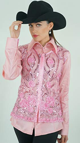 Royal Highness Molly Lace Sequence Show Vest (Baby Pink, SM)