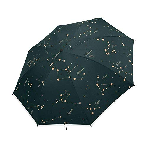 Folding Umbrella 12 Constellation Foldable Umbrella Automatic Umbrella Windproof JIAJIAFUDR