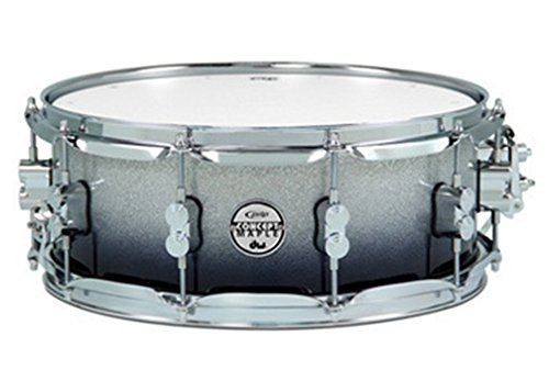 PDP 5.5'' x 14'' Concept Maple Snare Drum in Silver to Black Fade by Pacific Drums