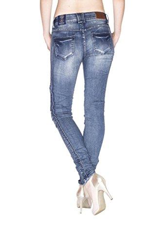 Blue Monkey Damen Skinny Jeans Biker-Look Joan-1095 27/32: Amazon.de:  Bekleidung