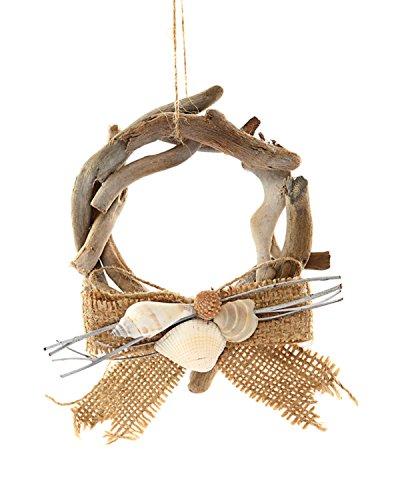 Wood Driftwood Wreath Ornament, 6-in. (Driftwood Christmas Ornaments)