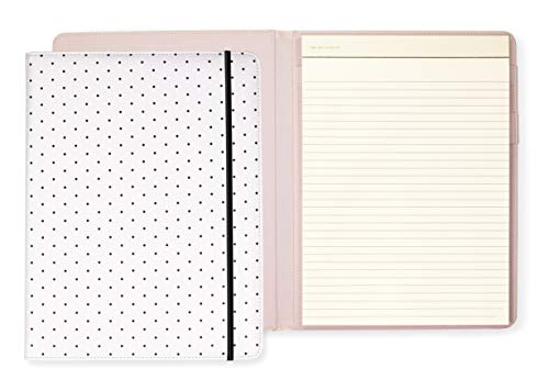 Kate Spade New York Notepad Folio, Bikini Dot (Black) (Dot Leather Portfolio Polka)