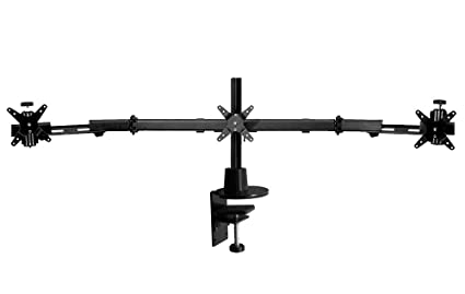 Amazon Com Ergotech Triple Lcd Monitor Desk Stand With Desk Clamp