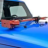 EAG 2007-2018 Jeep Wrangler JK Hi Lift Jack Mount Hood Hinge Bracket