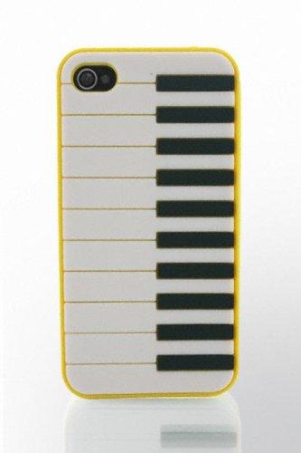 THS5Star piano musique Gel Silicone housse coque etui case pour iPhone 4 iphone 4s manchot piano couleur jaune - Studio Lars-Peter Neu