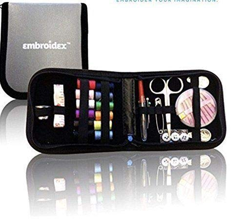 Embroidex Sewing Kit for Home, Travel & Emergencies - Filled with Quality Notions Scissor & Thread - Great Gift