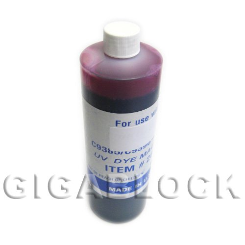 Ink Continuous System R1900 - Gigablock UV Dye based Bulk Pint(470ml) Magenta Refill Ink for CIS System Epson R1900 Inkjet Printer